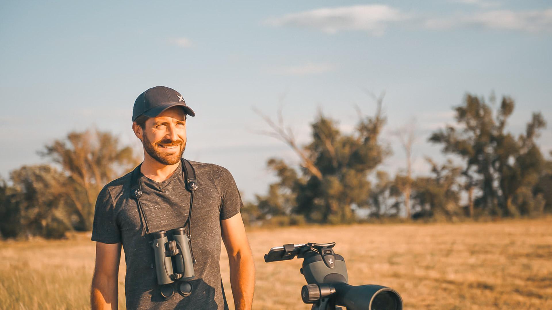 Khil beim Fotografieren im Nationalpark