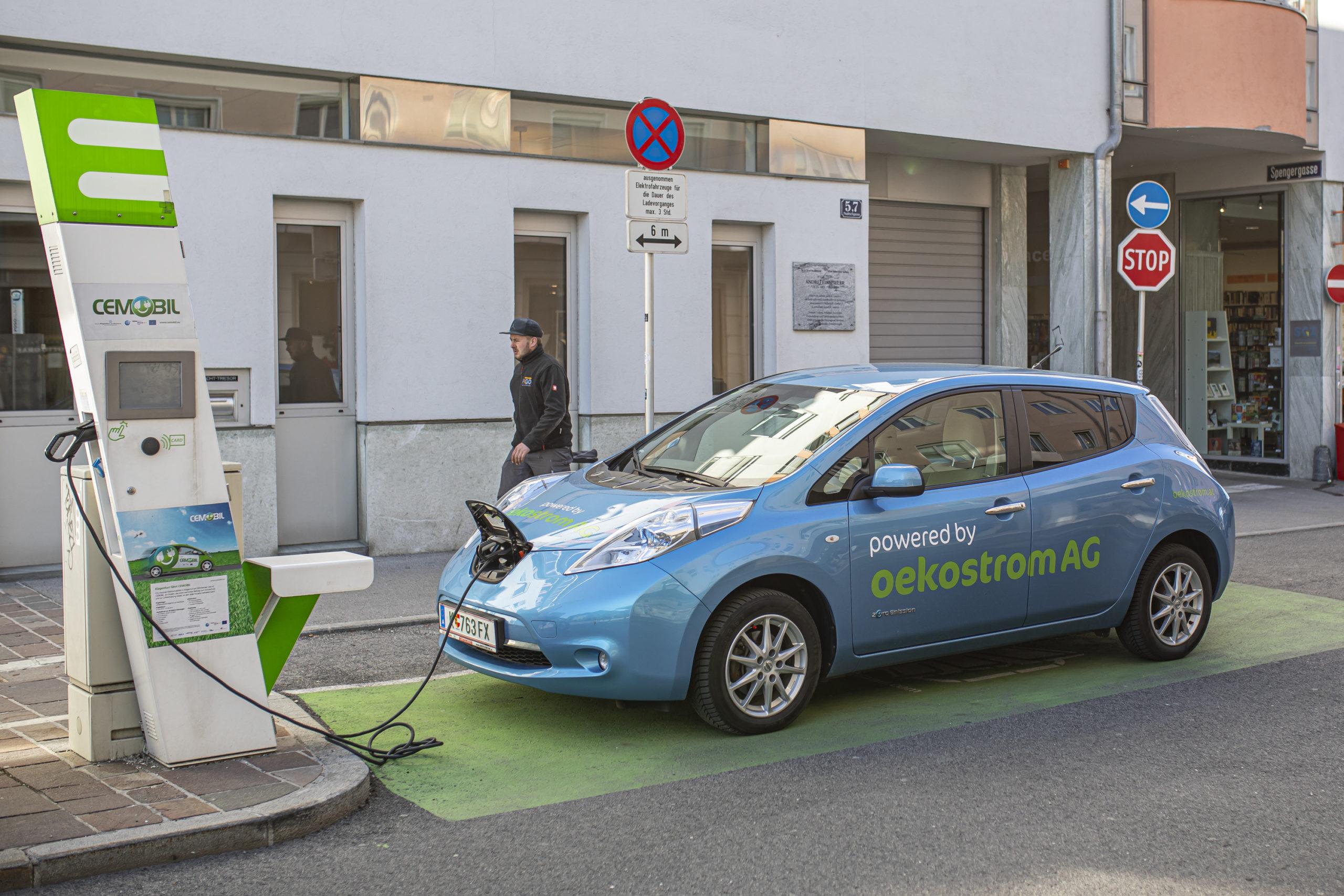 E-Auto-Tankstelle in Klagenfurt